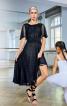 Платье с юбкой асимметричного кроя - фото 1