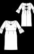 Сукня відрізна з вирізами на спинці - фото 3