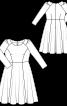 Сукня відрізна зі зборками на рукавах - фото 3