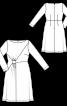 Платье отрезное трикотажное - фото 3