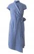 Сукня асиметричного крою з шалевим коміром - фото 2