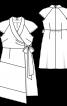 Сукня асиметричного крою з шалевим коміром - фото 3