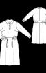 Платье отрезное с застежкой поло - фото 3