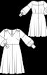 Сукня відрізна з пишними рукавами - фото 3