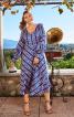 Сукня відрізна з пишними рукавами - фото 1