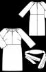 Сукня відрізна з поясом обі - фото 3