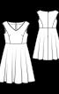 Платье с облегающим лифом и пышной юбкой - фото 3