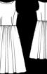 Сукня довжини міді з розкльошеною спідницею - фото 3