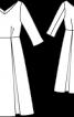 Сукня довжини міді з рукавами 3/4 - фото 3