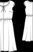 Сукня відрізна з приспущеними проймами - фото 3