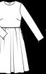 Сукня відрізна з мереживним коміром - фото 3