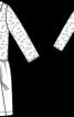 Сукня комбінована з двох тканин - фото 3