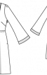 Сукня відрізна з розкльошеними рукавами - фото 3
