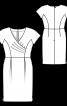 Сукня-футляр відрізна з ефектом запаху - фото 3