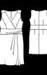 Сукня відрізна з ефектом запаху на ліфі - фото 3