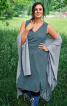 Сукня відрізна з ефектом запаху на ліфі - фото 1
