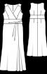 Сукня максі з ефектом запаху на ліфі - фото 3