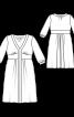 Сукня відрізна з широким вшивним поясом - фото 3