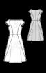 Сукня джинсова зі спідницею-дзвін - фото 3