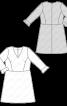 Сукня відрізна з воланами на рукавах - фото 3