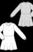 Платье трикотажное с мини-юбкой - фото 3