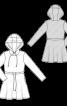 Платье трикотажное в спортивном стиле - фото 3