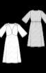Сукня трикотажна з розкльошеними рукавами - фото 3
