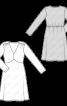 Сукня трикотажна з довгими рукавами - фото 3