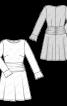 Сукня відрізна з драпірованою кокеткою - фото 3