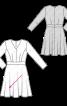 Сукня відрізна з рукавами 3/4 - фото 3