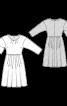 Сукня відрізна з приспущеною лінією плечей - фото 3