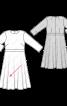 Сукня відрізна з розкльошеною спідницею - фото 3