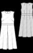 Сукня відрізна із зустрічною складкою на спідниці - фото 3