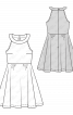 Сукня відрізна з американською проймою - фото 3