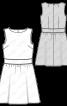 Сукня відрізна зі вшитим поясом - фото 3