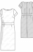 Сукня максі прямого крою - фото 3