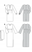Сукня максі силуету ампір з широкими рукавами - фото 7