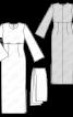 Сукня максі силуету ампір з широкими рукавами - фото 3