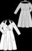 Сукня комбінована з двох видів тканин - фото 3