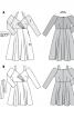 Сукня комбінована з двох видів тканин - фото 5