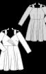 Сукня відрізна з широкими бретелями - фото 3