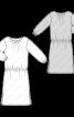 Сукня простого крою з рукавами 3/4 - фото 3