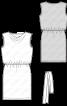 Сукня трикотажна з вирізом «гойдалки» - фото 3
