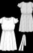 Сукня з рукавами-крильцями і широкою спідницею - фото 3