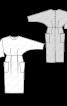 Сукня із суцільнокроєними рукавами «летюча миша» - фото 3