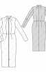 Сукня довжини міді на блискавці - фото 3