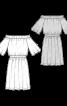 Сукня з вирізом кармен і широкими рукавами - фото 3