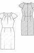 Сукня-футляр з короткими рукавами реглан - фото 3