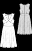 Сукня відрізна з глибоким вирізом горловини - фото 3