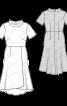 Сукня відрізна з широким коміром-стойкою - фото 3
